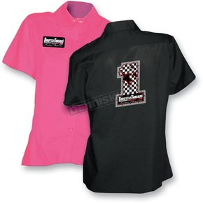 Throttle Threads Womens #1 Mudflap Shop Shirt - TT125S23BK2R