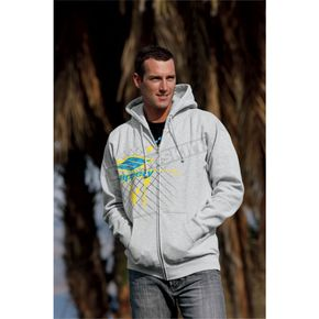 Slippery Circuit Zip-Front Hoody - 30500956