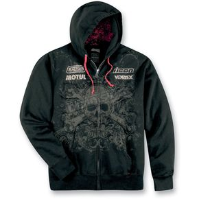 Icon Black Rat Zip Hoody - 3050-1314