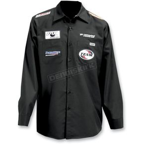 Throttle Threads Black Parts Unlimited Snow Shop Shirt - PSU23S14BK2R