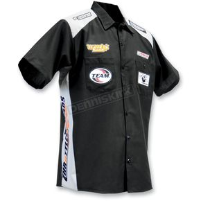 Throttle Threads Black Team Parts Unlimited Shop Shirt - PSU21S28BG2R