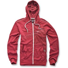 Alpinestars Red Heather Proper Zip Hoody - 1013-53006306L