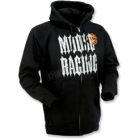 Moose Black Gothic Zip Hoody - 30502237