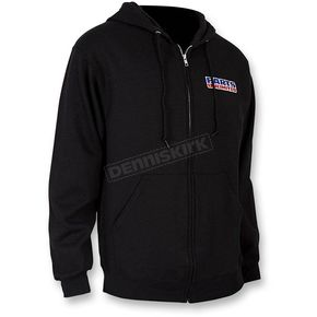 Throttle Threads Black Parts Unlimited Zip Hoody - PSU28F16BKSR