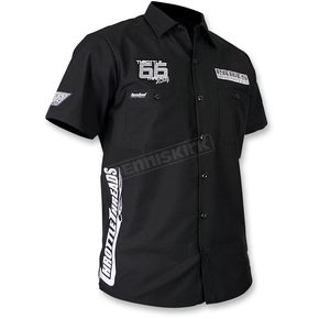 Throttle Threads Black Parts Unlimited Shop Shirt  - TT430S24BKMR