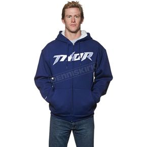Thor Navy/White Pinned Waffle Zip-Up Hoody - 3050-3116