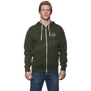 Thor Olive/Heather Winners Circle Zip-Up Hoody - 3050-3136