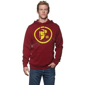 Thor Burgandy/Yellow Gasket Pullover Hoody - 3050-3159