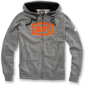 100% Gunmetal Heather Syndicate Zip Hoody - 36018-188-11