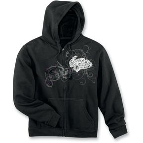 Icon Womens Black Street Angel Zip-Up Hoody - 3051-0461