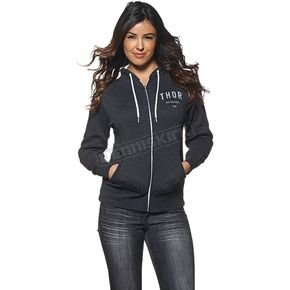 Thor Womens Charcoal Heather Shop Zip-up Hoody - 3051-0868