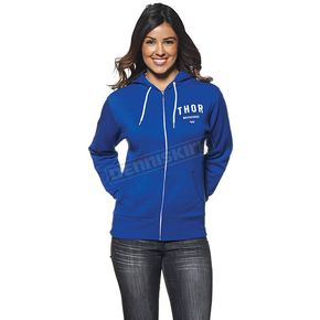 Thor Womens Blue/White Shop Zip-up Hoody - 3051-0873