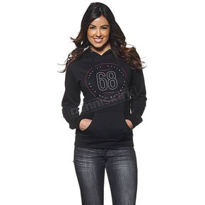 Thor Womens Black Button Pullover Hoody - 3051-0896
