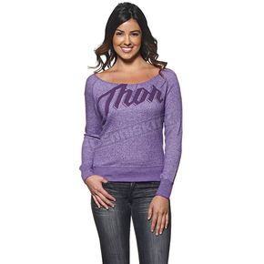 Thor Womens Purple Script Off Shoulder Top - 3051-0905
