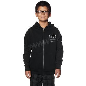 Thor Youth Black Shop Zip-Up Hoody - 3052-0332