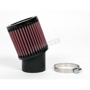 K & N Universal Round/Straight Clamp-On Air Filter - 3 3/4 in. Diameter x 4 in. Long - RU-1750