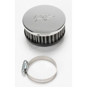 K & N Universal Round/Straight Clamp-On Air Filter - 3 1/2 in. Diameter x 1 1/2 in. Long - RC-2870
