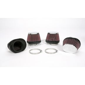 K & N Oval-Type Custom Clamp-On Air Filter Kit - RC-0984