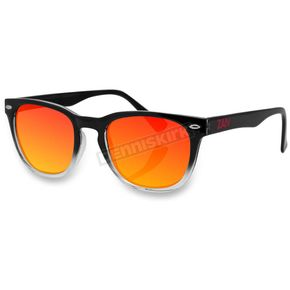 Bobster Black Gradient NVS Sunglasses w/Smoked Crimson Mirror Lens - EZNV03