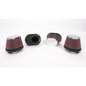 K & N Oval-Type Custom Clamp-On Air Filter Kit - RC-2454
