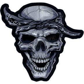 Lethal Threat Bandana Skull Embroidered Patch - LT30124