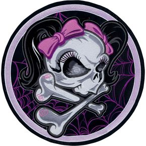 Lethal Threat Girl Skull Web Embroidered Patch - LT30122