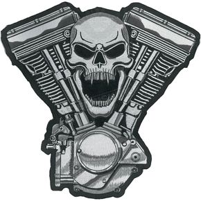 Lethal Threat Skull Motor Embroidered Patch - LT30069