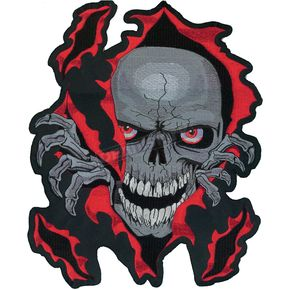 Lethal Threat Skull Rip Embroidered Patch - LT30052