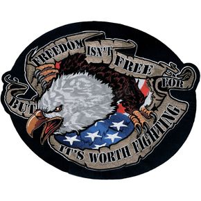 Lethal Threat Freedom Eagle Embroidered Patch - LT30094