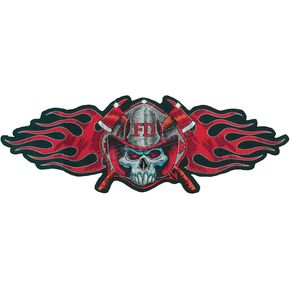 Lethal Threat Fireman Skull Embroidered Patch - LT30032