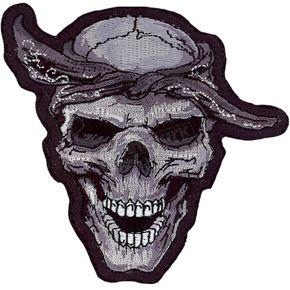 Lethal Threat Thug Skull Mini Embroidered Patch - MN32013