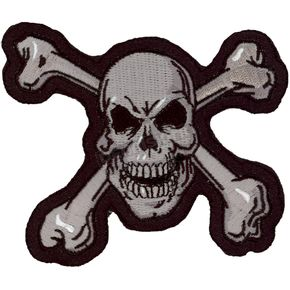 Lethal Threat Skull N Bones Mini Embroidered Patch - MN32011