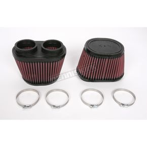 K & N Oval-Type Custom Clamp-On Air Filter Kit - RU-2852