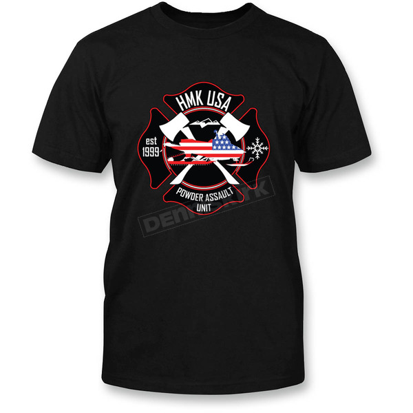 HMK Black Fire T-Shirt - HM2SSTFIRBL