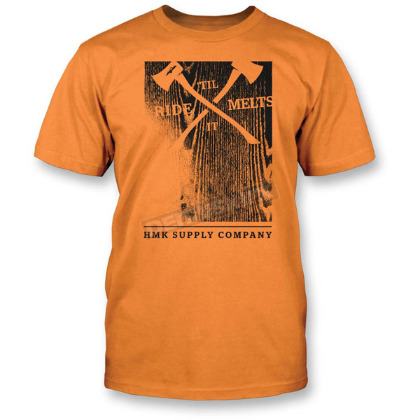 HMK Orange Woodblock T-Shirt - HM2SSTWOOOM