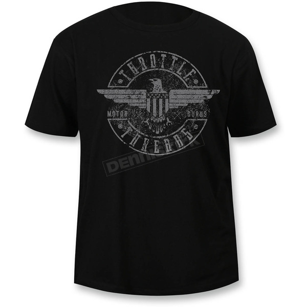 Throttle Threads Black Regal Eagle T-Shirt - TT606DT104BKMR