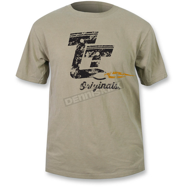 Throttle Threads Khaki Originals T-Shirt - TT607S969KG3R