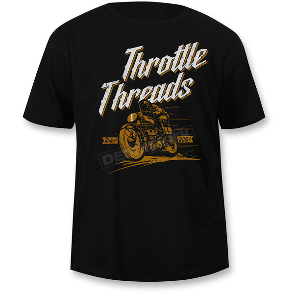 Throttle Threads Black Wreckless T-Shirt - TT611DT104BKMR