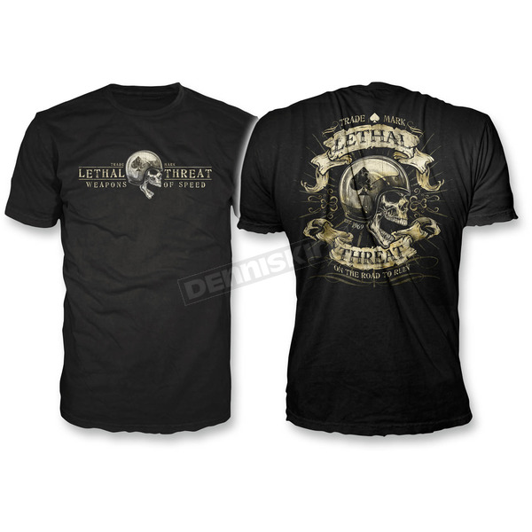 Lethal Threat Black Road to Ruin T-Shirt - LT20268L