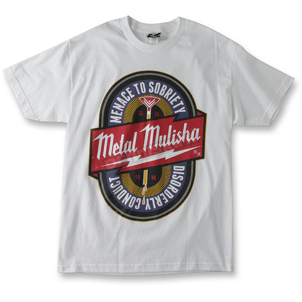 Metal Mulisha White Sobriety T-Shirt - M155S18130WHT2X