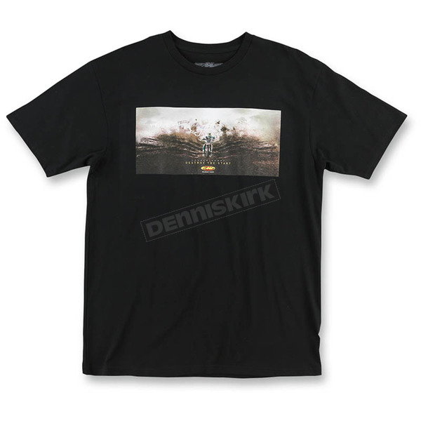 FMF Men's Black Destroy the Start T-Shirt - SP6118930BLKLG
