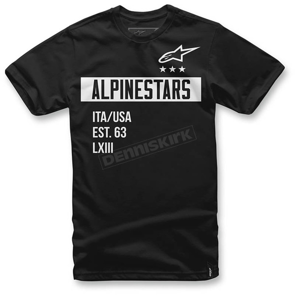 Alpinestars Black Valiant T-Shirt  - 1036-72002-10M