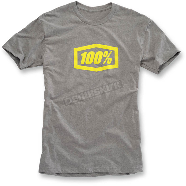100% Heather Gray Essential T-Shirt - 32016-188-12