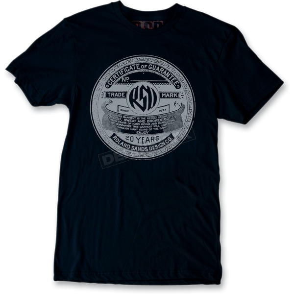 Roland Sands Design Black Badge T-Shirt - SSM0034B