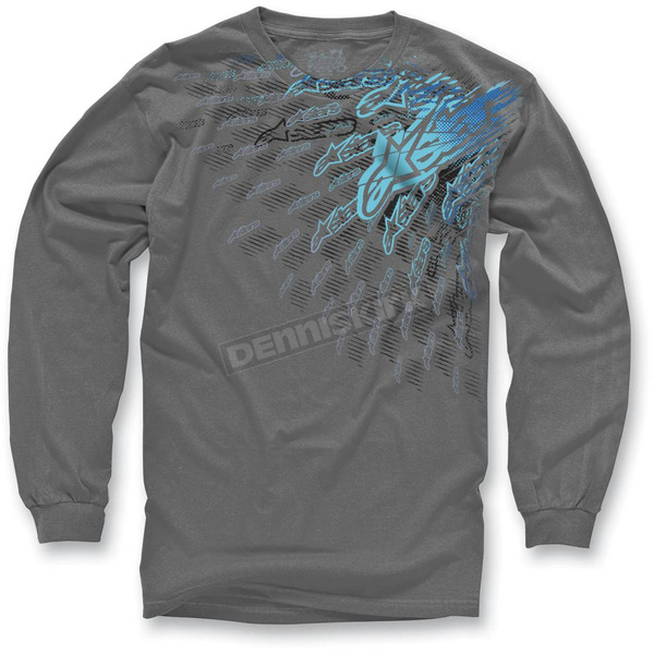 Alpinestars Charcoal Desert Sled Long Sleeve Shirt - 10327106518BXL