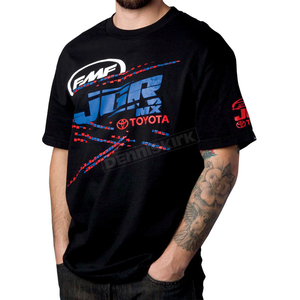 FMF Black JGR Scratched T-Shirt - F221S18021BKL