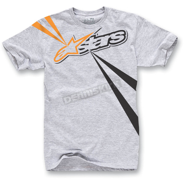 Alpinestars Heather Gray Spencer T-Shirt - 1013-72068111L