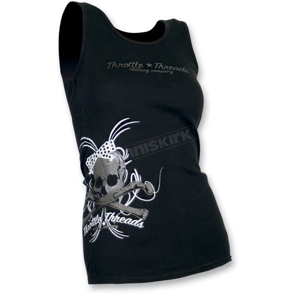 Throttle Threads Womens Bunky Tank Top - TT435T99BKSRA