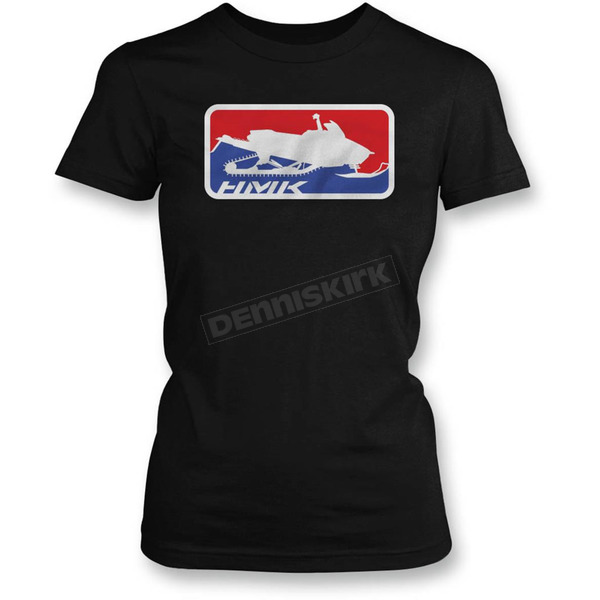HMK Womens Black Official T-Shirt  - HM2SSTOFFWBXL