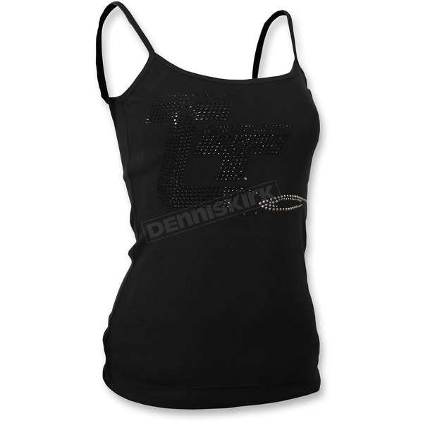 Throttle Threads Womens Black Spaghetti Strap Tank Top - TT605T23BK2R